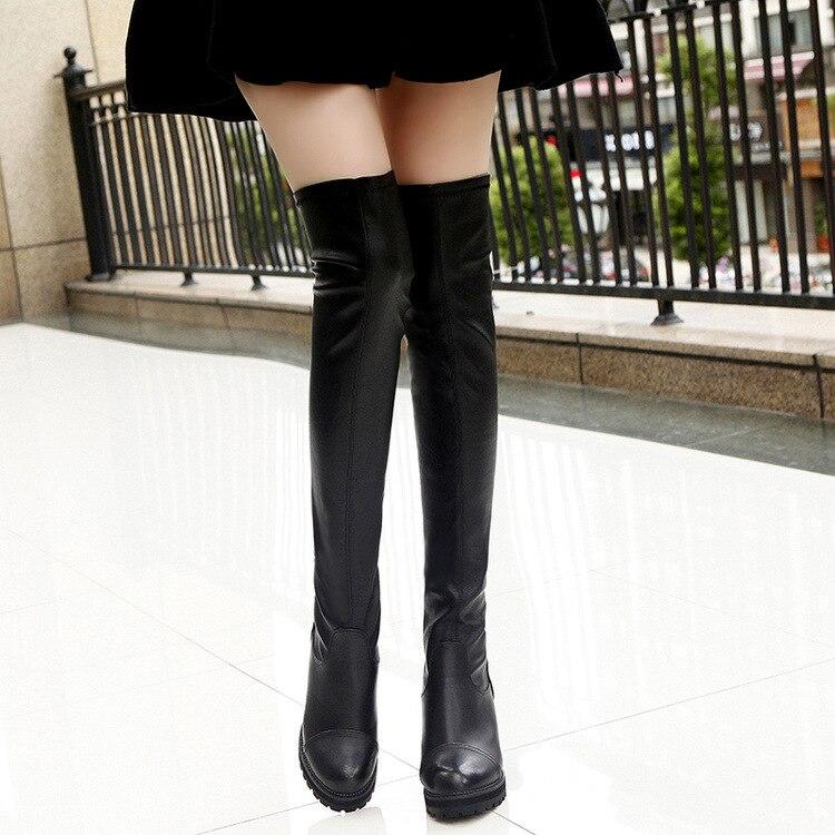 Negro Zapatos Mujer Tacón Botas Sexy Alto De wwap1qx0