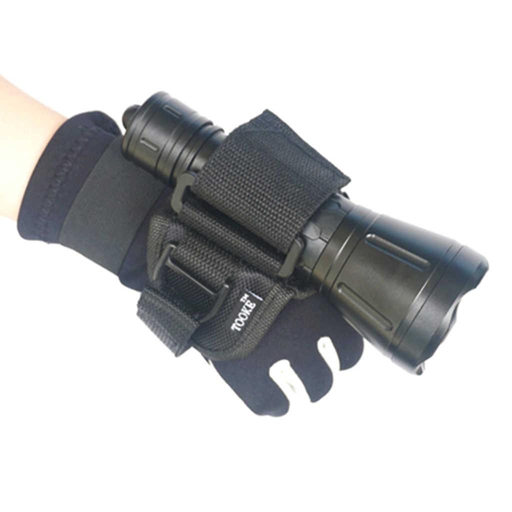 اليد الحرة حامل قفاز ل الغوص الغوص تحت الماء مصباح يدوي ليد في الهواء الطلق المياه إكسسوارات رياضية