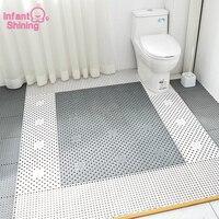 Infant Shining 4PCS Bath Mats 30X30CM Bathroom Splicing Mat Block Water Anti skid Mat Eco friendly Bathing foot Massage Cushion