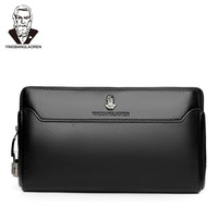 Anti theft long wallet Male PU leather casual handbag Men's business safety lock Clutch big capacity coded lock purse