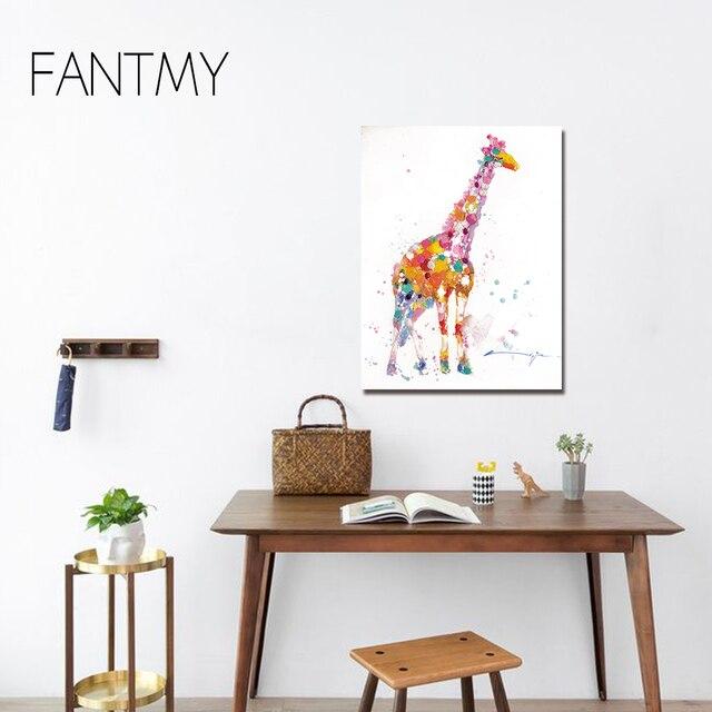 Fantmy Leinwand Wandkunst Moderne Tier Leinwand Malerei Zebra