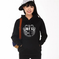 BTS Hoodie Women S Clothing Hoodies Sweatshirts Kpop BTS Bangtan Boys Black Grey Hoody Sweatshirts Women