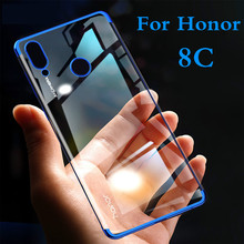 Clear Plating Case On Honor 8C For Huawei P smart 2019 Honor 8X Lite MAX 8 9 Lite 10 7A Pro 7C RU Soft TPU Shockproof Slim Cover