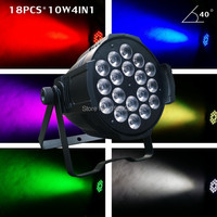 New Arrival 18pcs 10W RGBW LED Par Can 4IN1 Led Par64 Light For Stage Dj Night