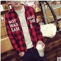 Male shirt teenage clothes winter casual trend plus velvet thermal plaid shirt male long-sleeve