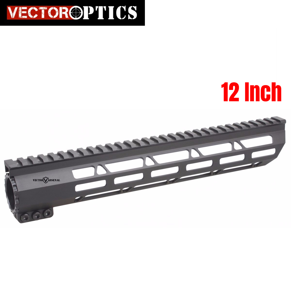 Vector Optics Tactical Slim M-LOK 12 inch Free Float Handguard Picatinny Rail Mount Bracket fit 223 5.56 AR 15 M4 M16 vector optics tactical 308 slim keymod 17 inch free float handguard picatinny rail mount scope bracket fit ar10 ar 10 308