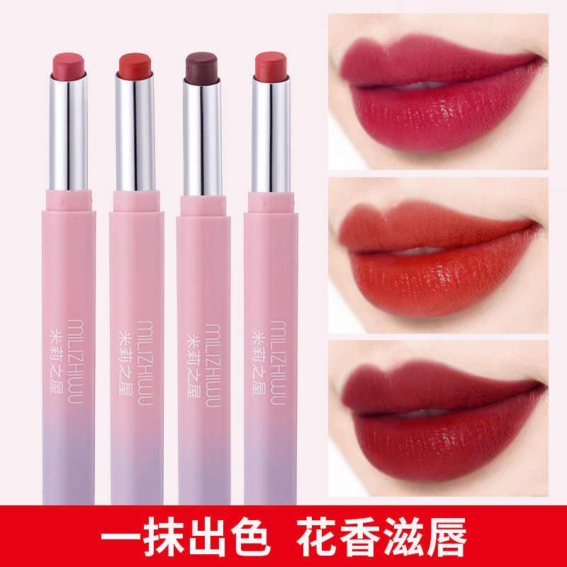 9 Color Velvet Mist Matte Lip Gloss Pencil Waterproof Long Lasting Strawberry Red Lip Stick Beauty Matte Liner Pen Lipstick #08