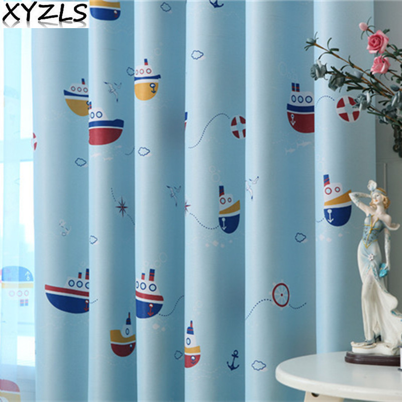 xyzls new sailing sailboat shade sheer curtain blackout curtains for living room bedroom window treatment