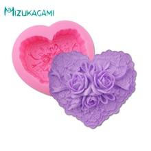 New 3D Big Shape Rose Soap Mould Love Flowers Chocolate Wedding Cake Decorating Tools DIY Baking Fondant Silicone Mold MJ-00924