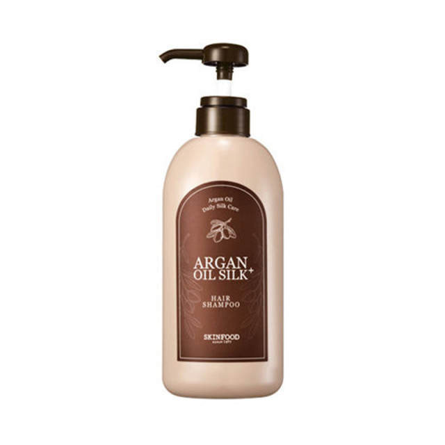 SKINFOOD Argan Oil Silk Plus Hair Shampoo -500ml Hair Growth Nourishing Anti dandruff Shampoo Professional Care Korean Cosmetics