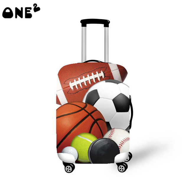 ONE2 Design polyester spandex luggage cover 22,24,26 inch luggage cover suitcase for man boys teenager high school students