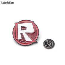 Patchfan ROBLOX Brooches for men women Zinc Enamel Pins medal Cartoon Cute For shirt backpack clothes bag decoration Badge A1698(China)
