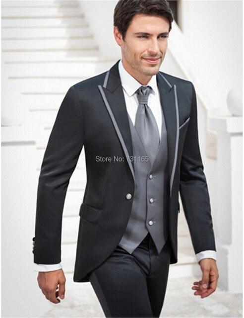 667e9f8adc1cf Hombres de la chaqueta de Los Hombres blazer masculino slim fit Smokinges  del novio Padrinos de