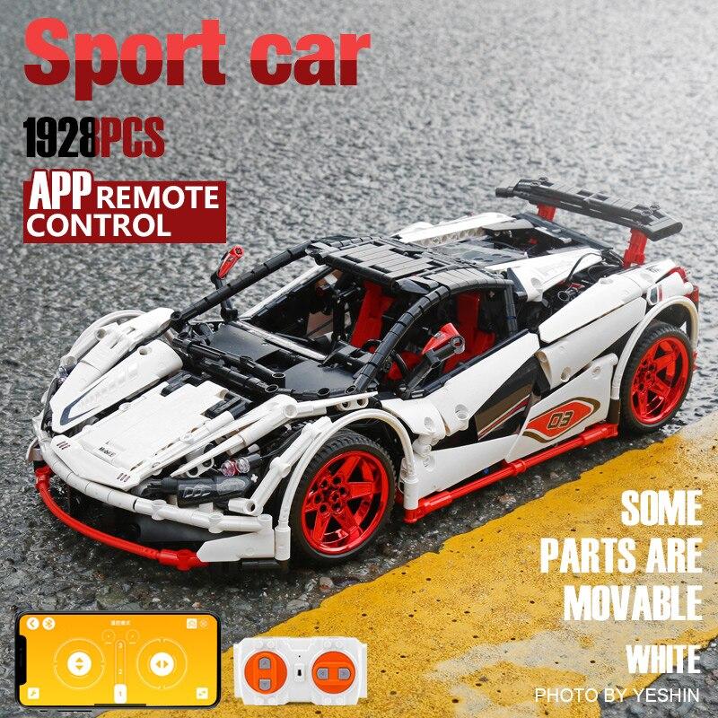 DHL Yeshin 20087 Technic Car Series Совместимость с Legoings MOC 16915 белый Icarus автомобильный набор Дети строительные блоки кирпичи RC автомобили - 5
