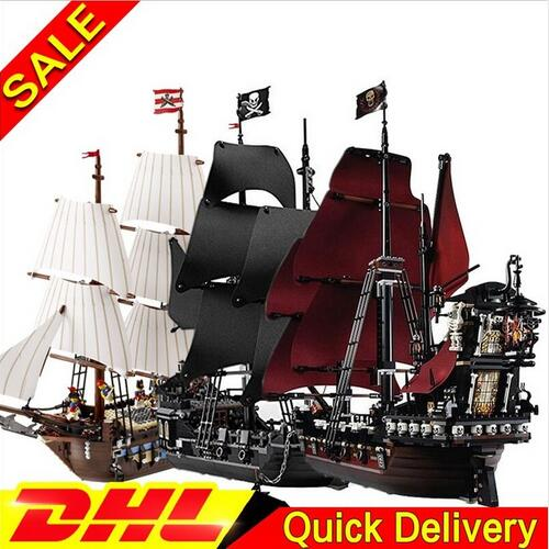 Models building toy kit Imperial Warships+Black Pearl Ship+Queen Anne's revenge Pirate ShiP Compatible with lego 10210 4184 4195 lepin 22001 imperial warships 16006 black pearl ship 16009 queen anne s revenge pirates series toys clone 10210 4184 4195