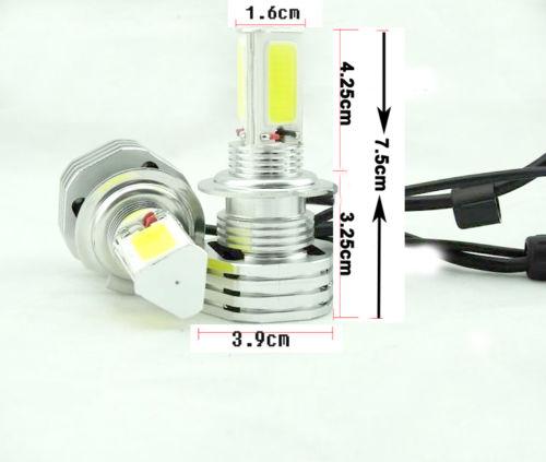 90W 9000lm 3 Sides LED Headlight Kit H4 HB2 9003 Hi//low beams HID 6000K Bulbs