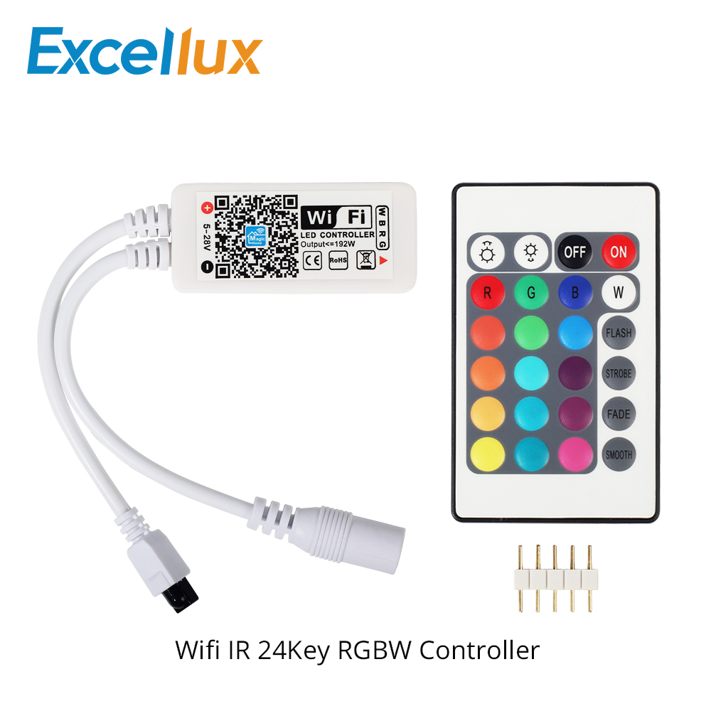 Icoco Mini Controller 24 Keys Ir Remote Controller Wireless For Smd3528 Smd5050 Rgb Led Strip Lights Quailty Worldwide Store Lighting Accessories