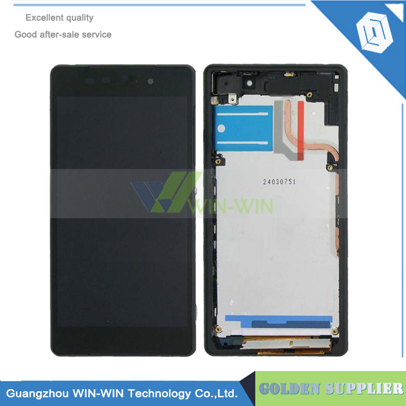 New LCD Display With Touch Screen Digitizer For Sony For Sony Xperia Z2 L50W D6503 LCD +Frame Black Color Free Shipping new z2 lcd touch screen for sony xperia z2 l50w d6502 d6503 d6543 display touch panel digitizer tracking