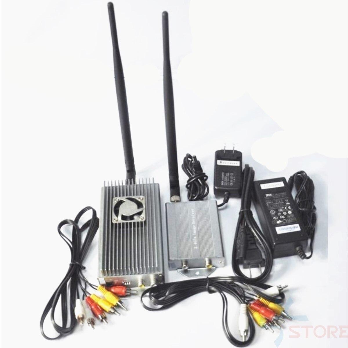 Émetteur-récepteur audio de vidoe d'émetteur-récepteur sans fil de la grande puissance 2.4Ghz 10W 4CH pour l'émetteur-récepteur de drone FPV