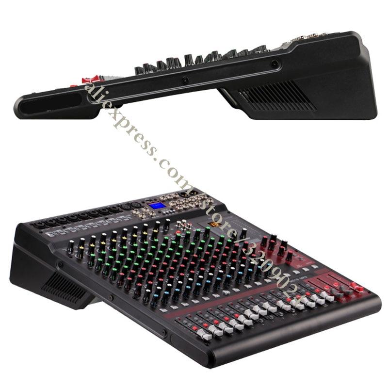 Pro 16 Kanal Audio Sound Digital Mixer Konsole Eingang Mischen Effekte mit Bluetooth USB 48 v Phantom Power 24 DSP Effekte