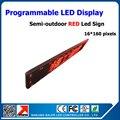 Программируемые рекламные из светодиодов экран доска красный цвет высокая яркость 16 * 160 пикселей p10 из светодиодов панели полу-открытый