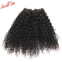 3pcs Lot 6A Annabelle Hair Brazilian Virgin Hair Kinky Curly Human Hair Extension 1B Natural Black Hair Weave 12 to 28inch