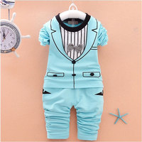 2017 Spring Fall Boys Baby Clothing Outfit Sports Suit 2 Sets For Boys Baby Long Sleeved