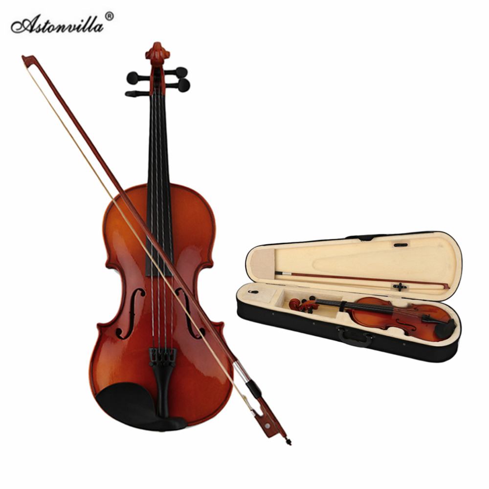 Astonvilla Spruce Solid Wooden 4/4 Violin Lacquer Light Fiddle 4-String Instrument Maple Solid Wooden Both Beginner Top Quality skin resonance peeling