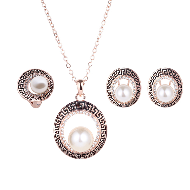 Aliexpresscom Buy Vintage Imitation Pearls 2 Pcs Jewelry Sets For