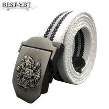 Лучший YBT русский национальный герб холст тактический ремень высокое качество военные ремни для мужчин и женщин роскошный джинсовый ремень в патриотическом стиле ремень