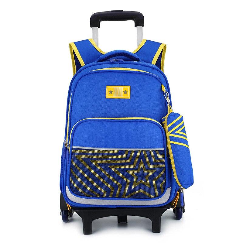 waterproof Removable Trolley school Backpack kids Wheeled Bags Children School Bag Boys Girls Travel Bags Child School Backpacks цена и фото