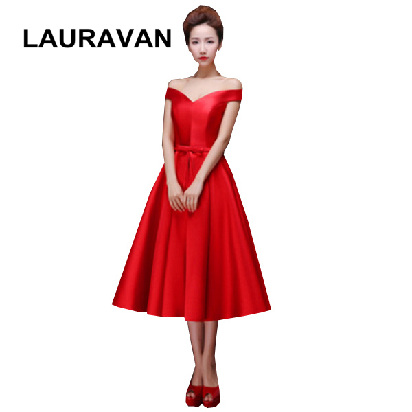 2019 New Popular Red Design Girl Blue Plus Size Purple Short Princess Tea Length Bridesmaid Sexy Birthday Dresses Free Shipping