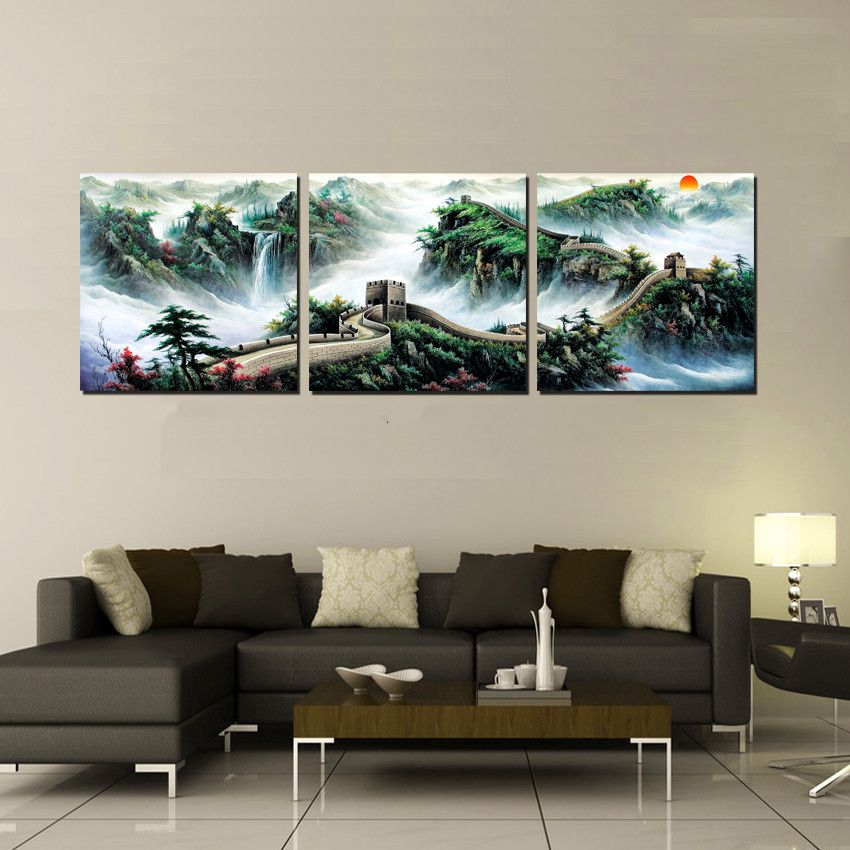 Home decoration 3 pieces no frame art picture canvas for House decoration pieces