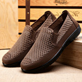 Comfortable Summer Men Shoes Slip-on Flat Men Sapatos Hollow out Mesh Canvas Casual Moccasins Basic Man Beac espadrilles