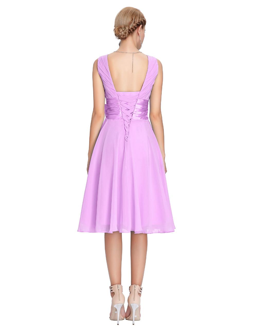 HTB1afzPMVXXXXavaXXXq6xXFXXXKKnee Length Short Chiffon Blue Dress