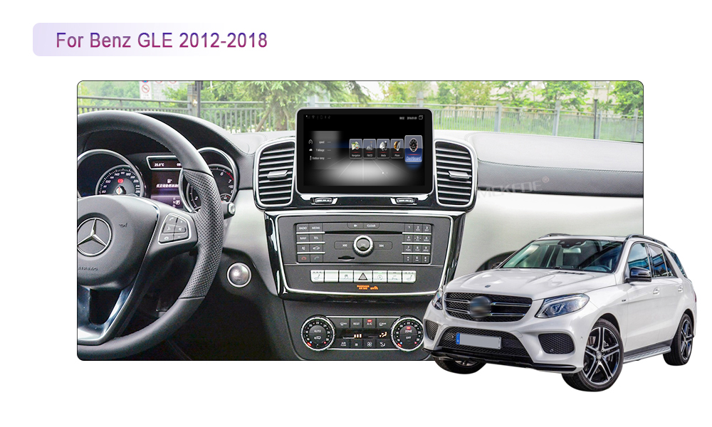 Best New arrival!android7.1 Car stereo head unit navigation GPS NAVI DVD player for Benz GLE 2012-2018 support 4G wifi BT free map 4