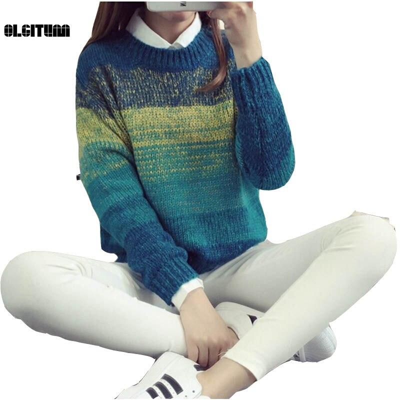 Otoño Invierno Mujer Sweaters Tops Casual Fashion Sexy Pullovers de Punto Más E