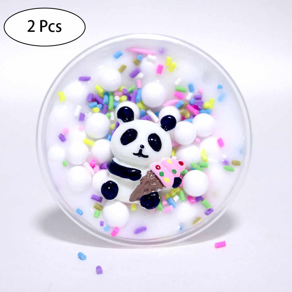 Panda Beads Slime Clay Sludge Toy Kids Adult Stress Relief Plasticin Toys Gift  Sludge Slime 2019 Brusting Christmas Gift