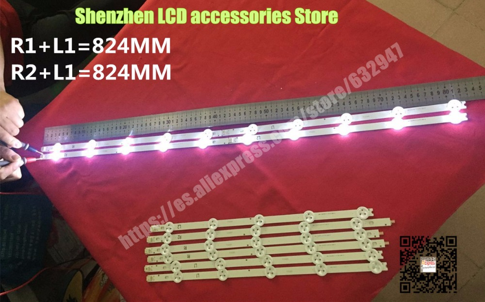 10 Pieces/lot  FOR LG 42-inch  TV LG 42 inch Backlight Strip 42LN5400 42LN5300 R1+L1=6Pieces  R2+L2=4Pieces   10 Pieces/lot  FOR LG 42-inch  TV LG 42 inch Backlight Strip 42LN5400 42LN5300 R1+L1=6Pieces  R2+L2=4Pieces