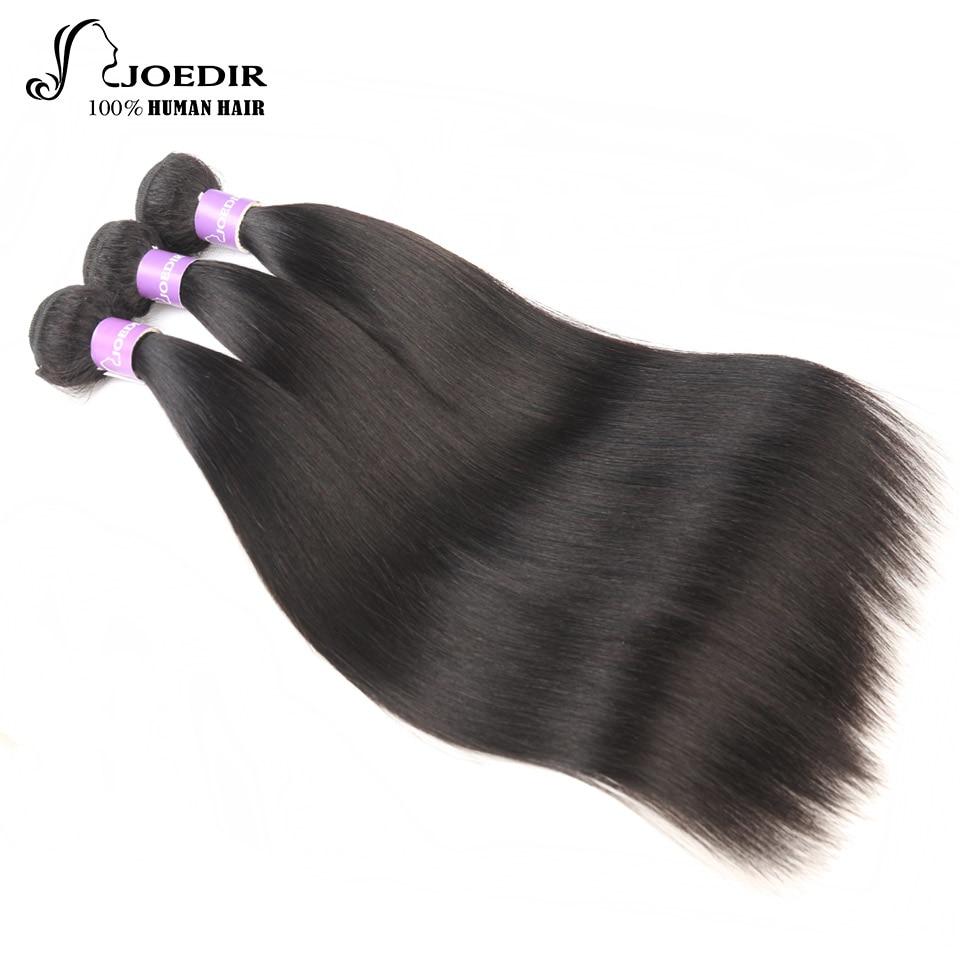 Joedir Hair Brazilian Straight Human Hair Extention 3 Bundles Deal Non-Remy Hair Weave Bundles Natural Color Free Shipping