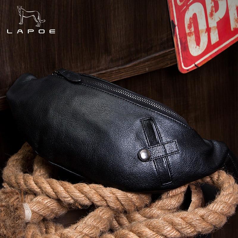 Männer Die Taille brown Retro Horse Crazy Aus Leder Erste Lapoe Handmade Neue Tasche Schultertasche Schwarzes Taschen Schicht BWxdqwn8a