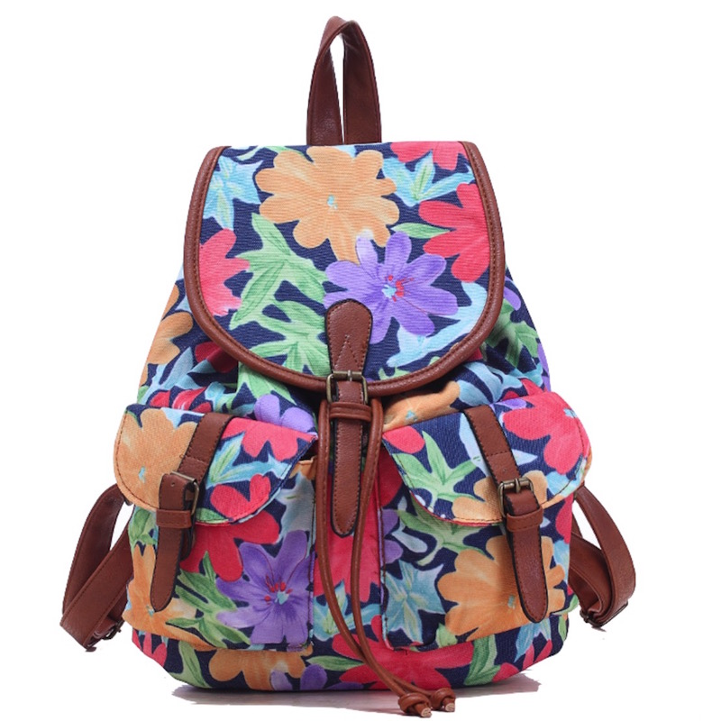 Vintage Rucksack Printing Canvas Women Backpack Mujer Mochila Escolar Feminina School Bag Sac a Dos