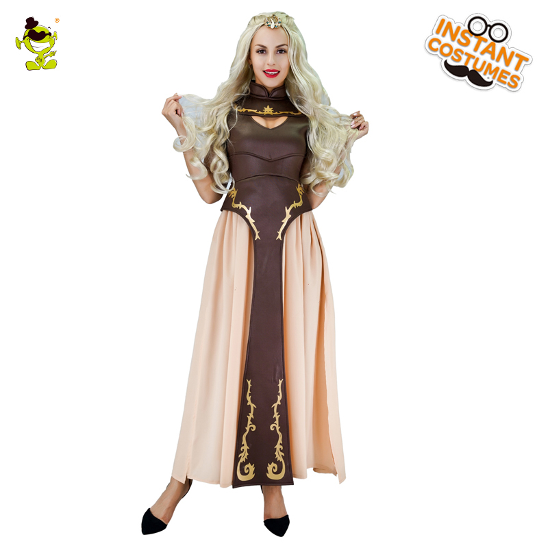 Womens Barbarian Game of Thrones Costume Adults Medieval Clarke Party Costumes Halloween dress Role Play Costumes