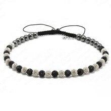 10 mm arcilla bola cristalina de Shamballa del collar de Shamballa pavimenta Disco de la CZ Shamballa ajustable collar para hombre envío gratis