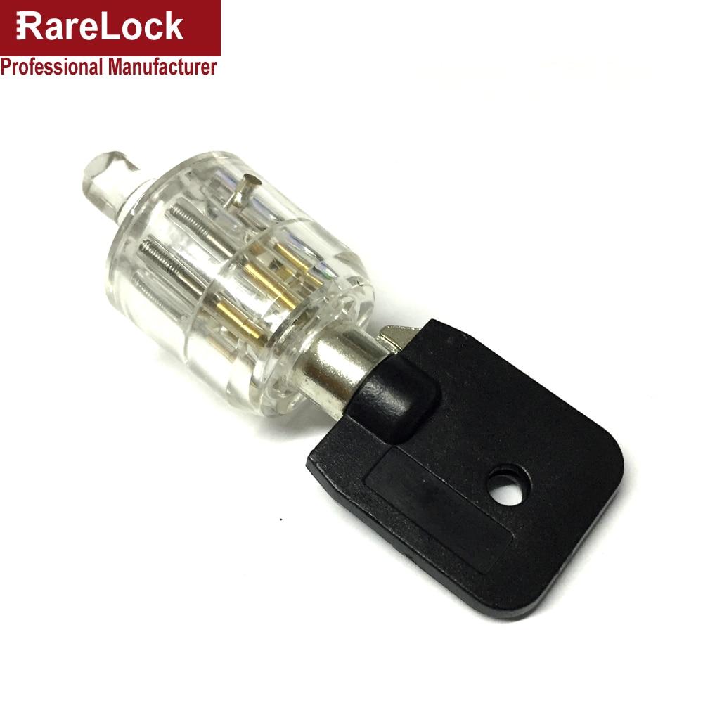 Rarelock MMS443 Transparent Tubular Lock Practice 7Pin Pick Training Door Lock Skill Key Pick Set for Locksmith Beginner g цены