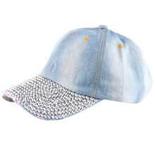 7a0951aba5a 2018 Cool stylish Women Men Rhinestone Baseball Cap Unisex Snapback Hip Hop  Flat Hat  0604
