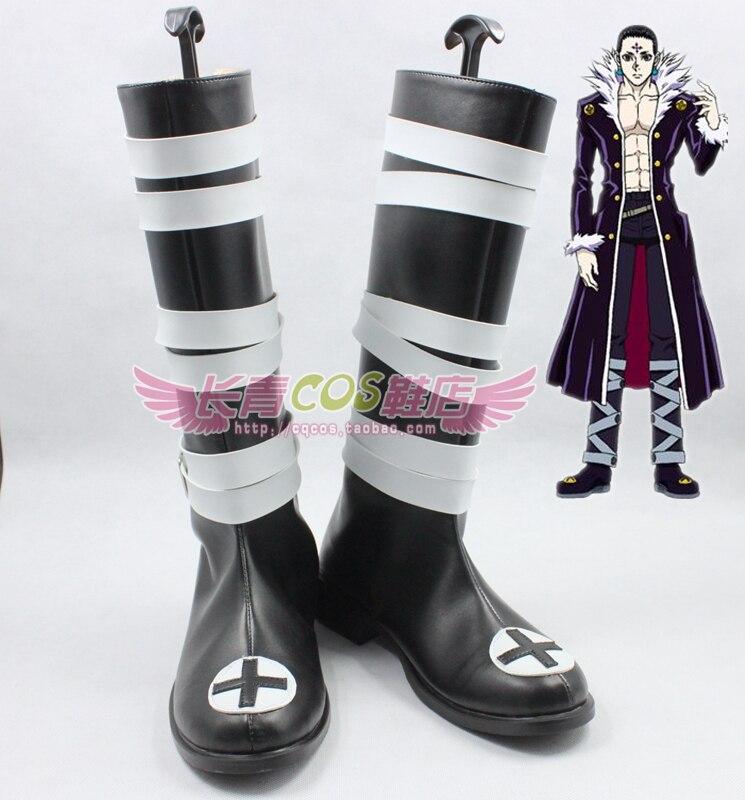 Hunter x Hunter Chrollo Lucilfer Kulolo lushilufelu cos boots Cosplay Shoes Anime Custom made