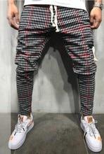 Hot Mens Sweatpants Side Stripe Hip Hop Track Pants Street Wear Skinny Jogger Elastic Waist Male Casual Trousers 3XL