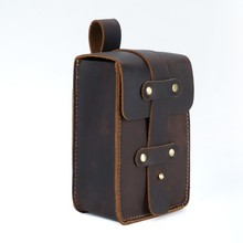 Купить с кэшбэком Moterm Genuine Leather Fanny Pack Waist Bag Small Size 4x2.4x6.3 inches Belt Phone Pouch Bag for Men Vintage Travel Waist Pack