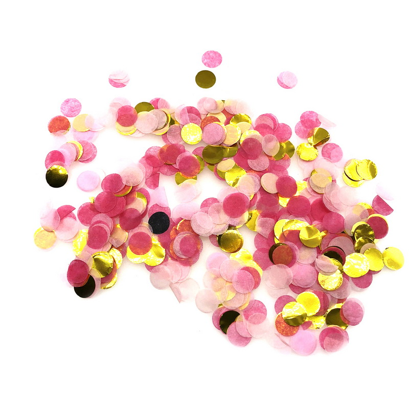CALOFE 1cm 10g/bag Mixed Colors Metallic Mini Round Confetti Dots Filling Balloons Baby Shower Wedding Engagement Decoration